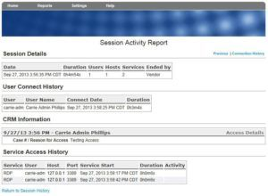 How to access audit reports from the SecureLink Gatekeeper